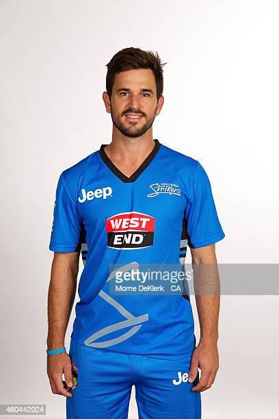 Ryan ten Doeschate poses during the Adelaide Strikers Big Bash League headshot session on December 14 2014 in Adelaide Australia