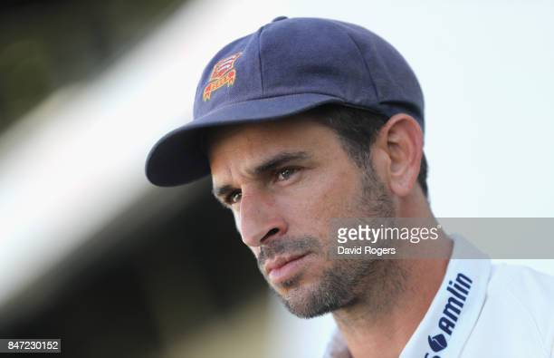 Ryan ten Doeschate the Essex captain faces the media after their victory during the Specsavers County Championship Division One match between...
