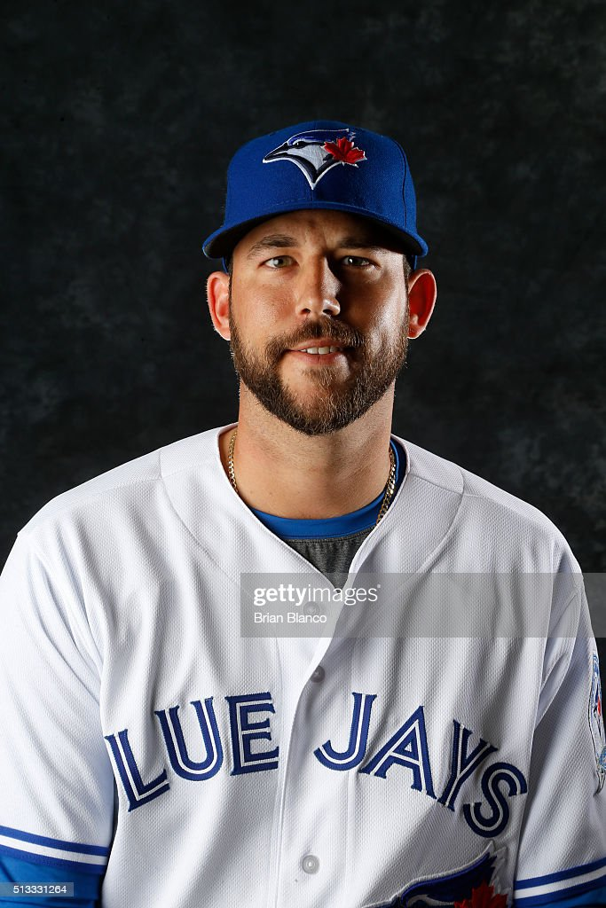 Ryan Tepera #52 of the Toronto Blue Jays poses for a photo during the Blue Jays' photo day on February 27, 2016 in Dunedin, Florida.