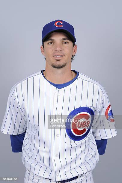 Ryan Theriot of the Chicago Cubs poses during Photo Day on Monday February 23 2009 at HoHoKam Park in Mesa Arizona
