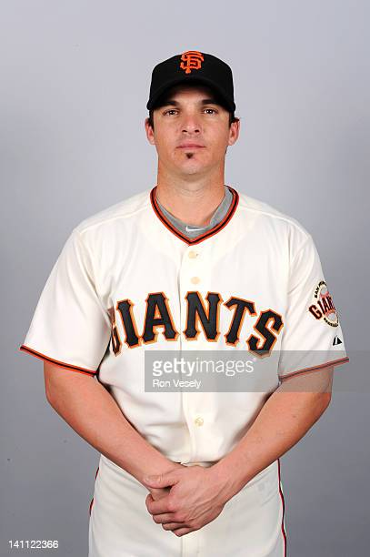 Ryan Theriot of the San Francisco Giants poses during Photo Day on Thursday March 1 2012 at Scottsdale Stadium in Scottsdale Arizona