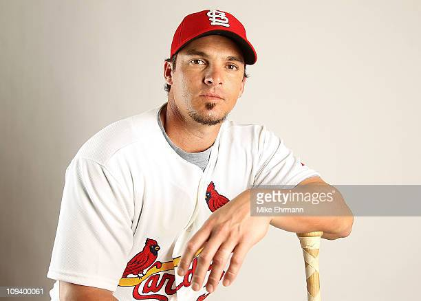 Ryan Theriot of the St Louis Cardinals poses for a portrait during Photo Day at Roger Dean Stadium on February 24 2011 in Jupiter Florida