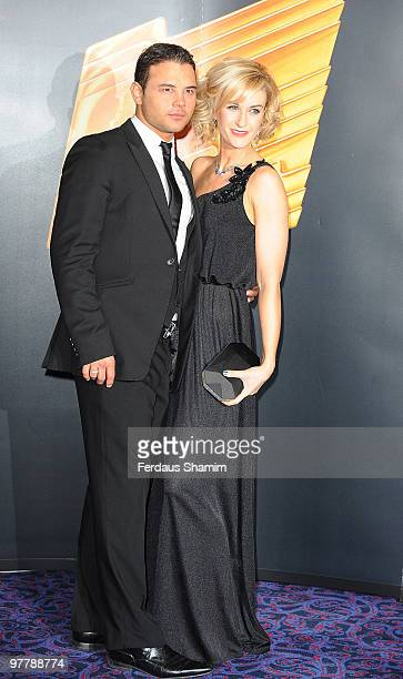 Ryan Thomas and Katherine Kelly attend the RTS Programme Awards 2009 at The Grosvenor House Hotel on March 16 2010 in London England