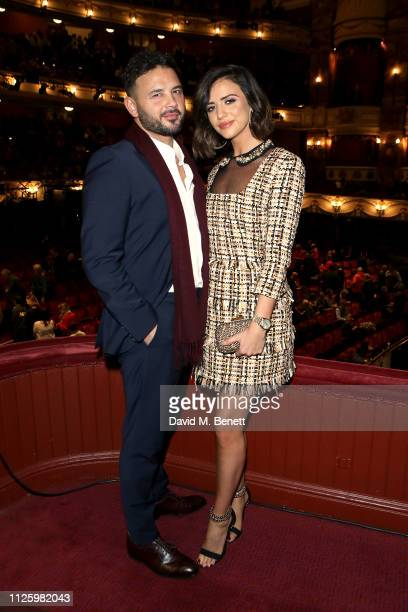 Ryan Thomas and Lucy Mecklenburgh attend 'La Boheme' at the English National Opera on January 29 2019 in London England