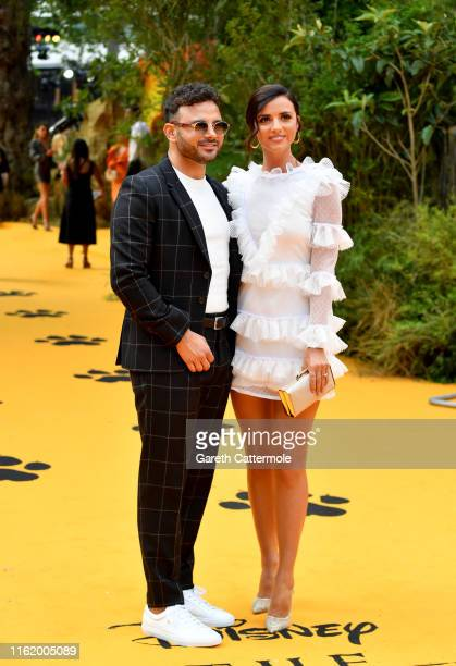 """Ryan Thomas and Lucy Mecklenburgh attend the European Premiere of Disney's """"The Lion King"""" at Odeon Luxe Leicester Square on July 14, 2019 in London,..."""