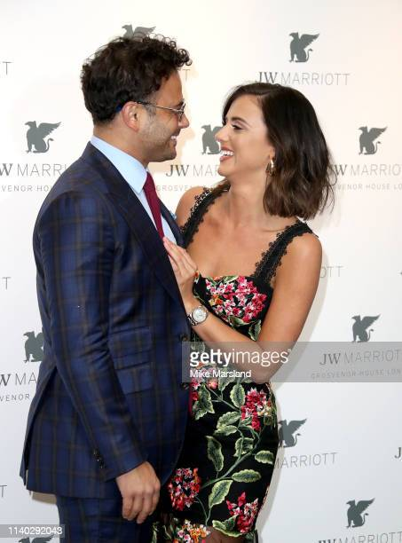 Ryan Thomas and Lucy Mecklenburgh attend the JW Marriott Grosvenor House London 90th Anniversary at Grosvenor House on April 30 2019 in London England