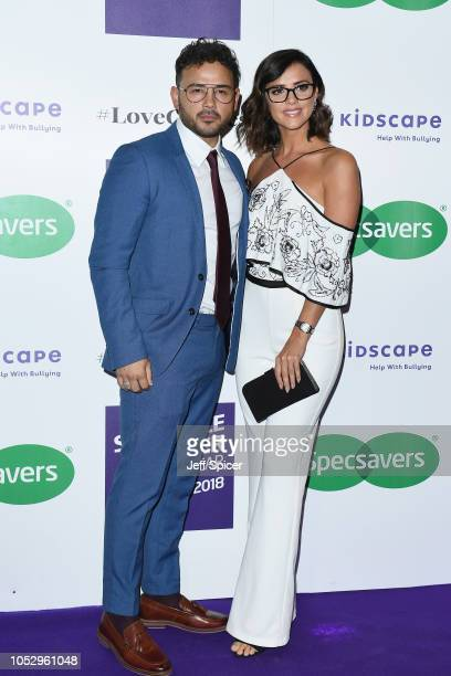 Ryan Thomas and Lucy Mecklenburgh attend the Specsavers 'Spectacle Wearer Of The Year' at 8 Northumberland Avenue on October 24 2018 in London United...