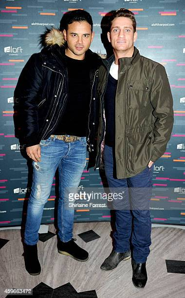 Ryan Thomas and Philip Olivier arrive at the launch of the Aloft Liverpool hotel which has transformed the iconic Royal Insurance Building in...