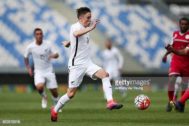 Ryan Thomas of New Zealand in action during the 2018 FIFA World Cup Qualifier match between the New Zealand All Whites and New Caledonia at QBE...