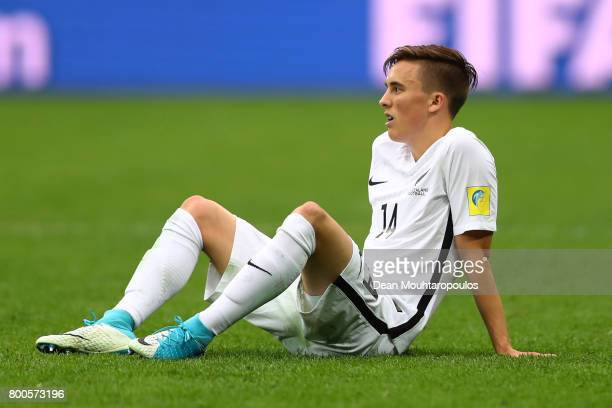 Ryan Thomas of New Zealand is dejected after the FIFA Confederations Cup Russia 2017 Group A match between New Zealand and Portugal at Saint...