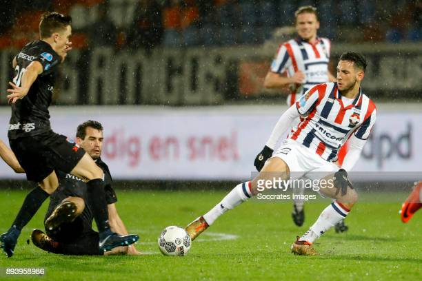 Ryan Thomas of PEC Zwolle Dirk Marcellis of PEC Zwolle Ismail Azzaoui of Willem II during the Dutch Eredivisie match between Willem II v PEC Zwolle...