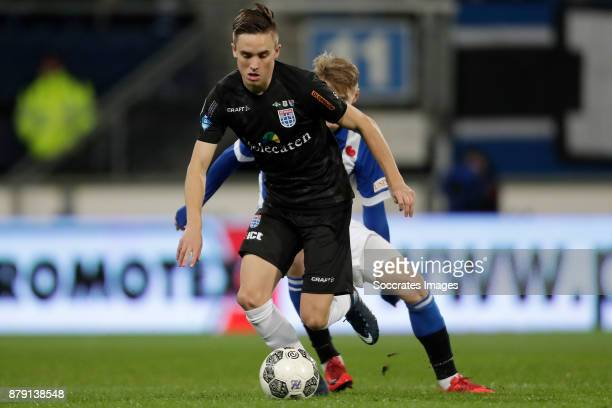 Ryan Thomas of PEC Zwolle Martin Odegaard of SC Heerenveen during the Dutch Eredivisie match between SC Heerenveen v PEC Zwolle at the Abe Lenstra...