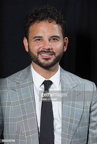 Ryan Thomas poses backstage at the Daily Mirror and RSPCA Animal Hero Awards at Grosvenor House on September 7 2016 in London England