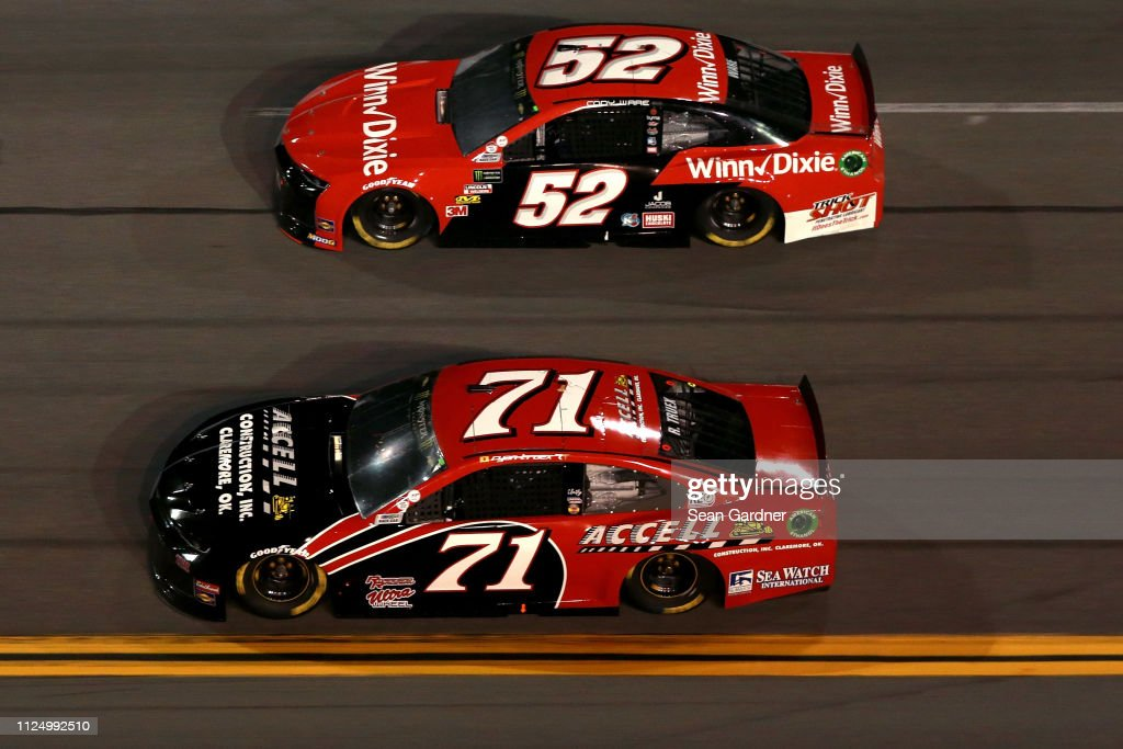 Ryan Truex, driver of the Accell Construction Inc  Chevrolet, races