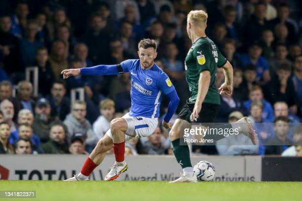 Ryan Tunnicliffe of Portsmouth FC during the Sky Bet League One match between Portsmouth and Plymouth Argyle at Fratton Park on September 21, 2021 in...