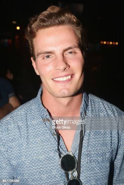 Ryan Tutton poses as 'In Real Life' the grand prize winner of ABC's 'Boy Band' visit Planet Hollywood Times Square on September 15 2017 in New York...