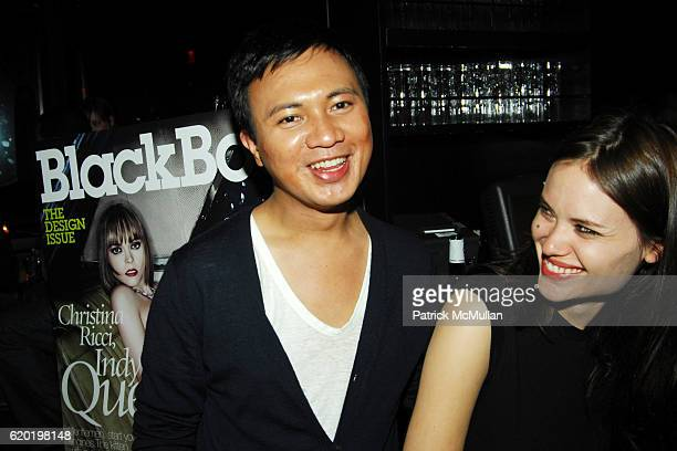 Ryan Urcia and Kristina Ratliff attend BLACKBOOK'S May Design Issue Release Party at 1 OAK on April 16 2008 in New York City
