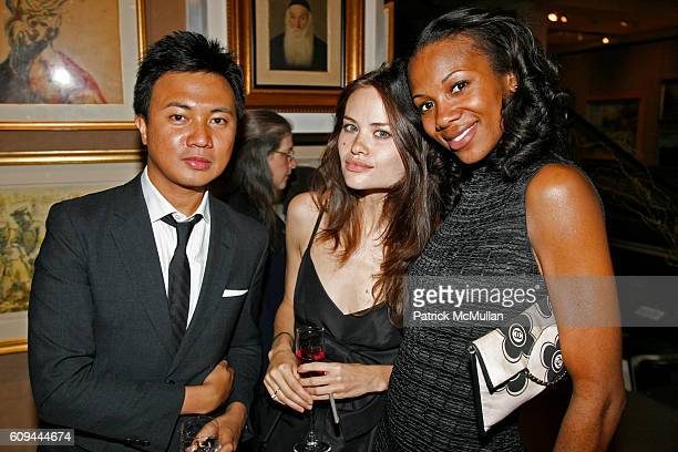 Ryan Urcia Kristina Ratliff and Mashariki Williamson attend 9th Annual Russian American Cultural Center Gala at Sotheby's on June 4 2007 in New York...