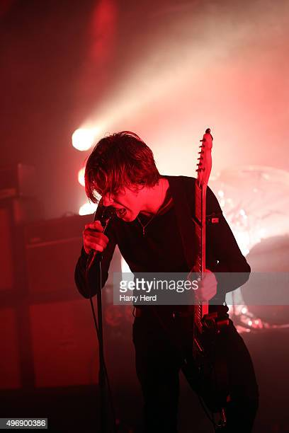 Ryan 'Van' McCann of Catfish and the Bottlemen performs at Southampton Guildhall on November 12 2015 in Southampton England