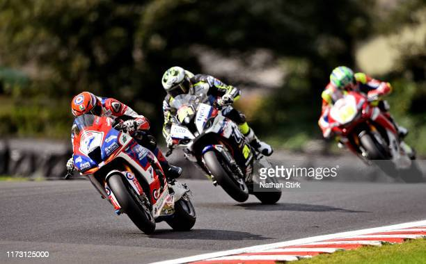 Ryan Vickers of RAF Regular and Reserves Jaswaski in action during the British Superbike Championship at Oulton Park on September 08, 2019 in...
