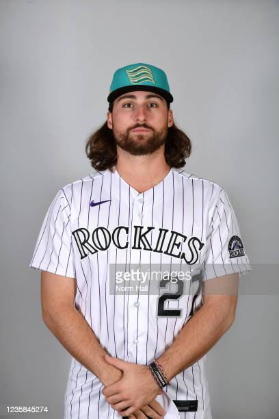 Ryan Vilade of the Salt Rive Rafters poses for a headshot during the 2021 Arizona Fall League Headshots at Salt River Fields at Talking Stick on...