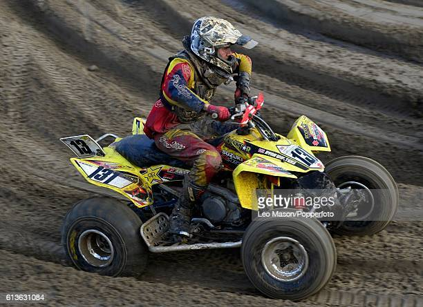 Ryan Walters Quad bikes competitor in the Hydrogarden Western Beach Race on October 8 2016 in WestonSuperMare England