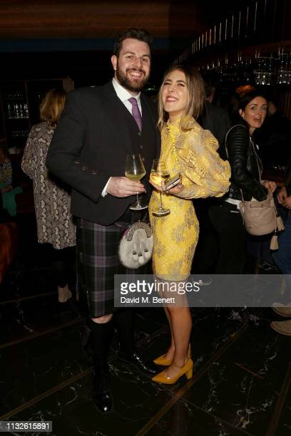 Ryan Whelan and Gina Martin attend a party hosted by Gina Martin and Ryan Whelan to celebrate the Royal ascent into law of the Voyeurism Bill making...