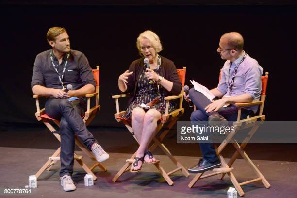 Ryan White Jean Hargadon Wehner and Basil Tsiokos attend 'The Keepers' QA during the 2017 Nantucket Film Festival Day 5 on June 25 2017 in Nantucket...