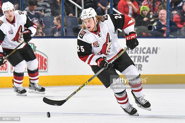 Ryan White of the Arizona Coyotes skates against the Columbus Blue Jackets on December 5 2016 at Nationwide Arena in Columbus Ohio
