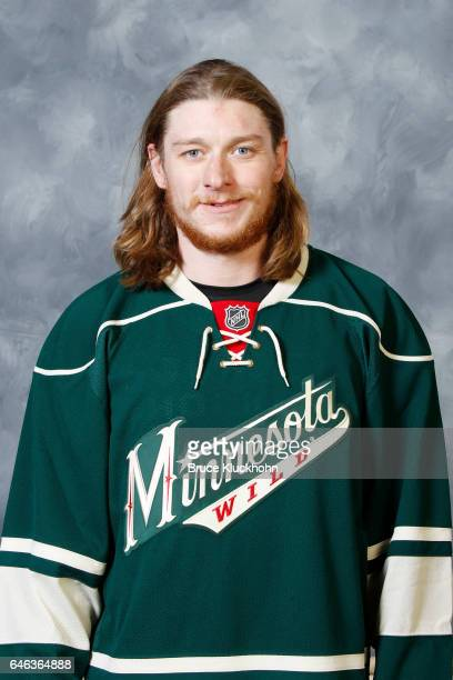 Ryan White of the Minnesota Wild poses for his official headshot on February 27 2017 at the Xcel Energy Center in St Paul Minnesota