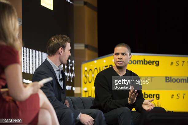Ryan Williams cofounder and chief executive officer of RealCadre LLC speaks during the Sooner Than You Think conference in the Brooklyn borough of...