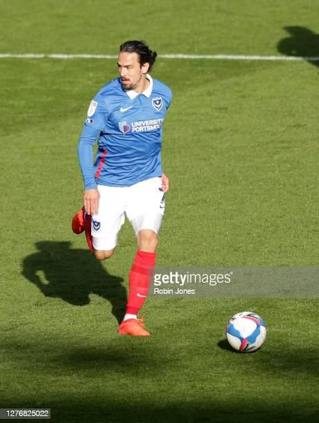 Ryan Williams of Portsmouth FC during the Sky Bet League One match between Portsmouth and Wigan Athletic at Fratton Park on September 26, 2020 in...