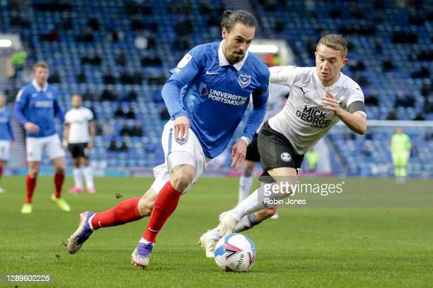 Ryan Williams of Portsmouth FC during the Sky Bet League One match between Portsmouth and Peterborough United at Fratton Park on December 05, 2020 in...