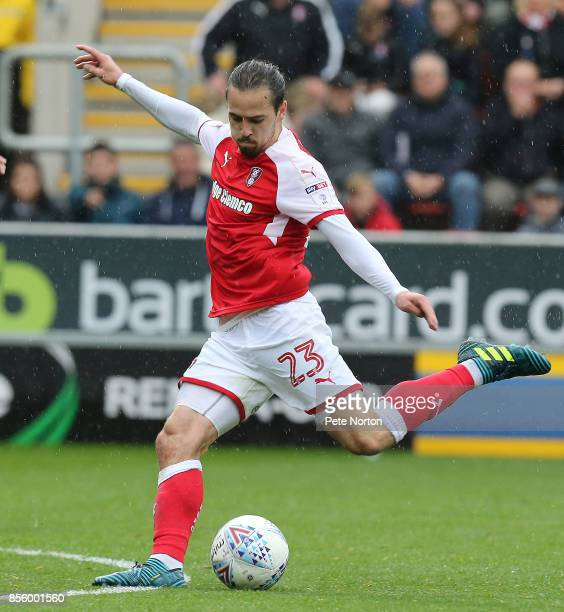 Ryan Williams of Rotherham United in action during the Sky Bet League One match between Rotherham United and Northampton Town at The Aesseal New York...