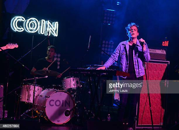 Ryan Winnen and Chase Lawrence of COIN performs during An Intimate Night Out at Revolution Live on July 9, 2015 in Fort Lauderdale, Florida.