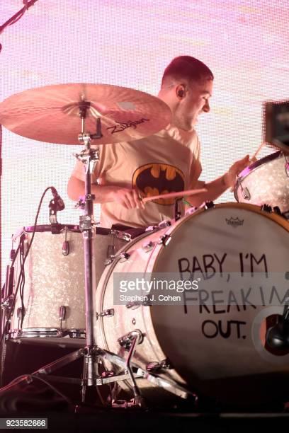 Ryan Winnen of the band COIN performs at Mercury Ballroom on February 23, 2018 in Louisville, Kentucky.