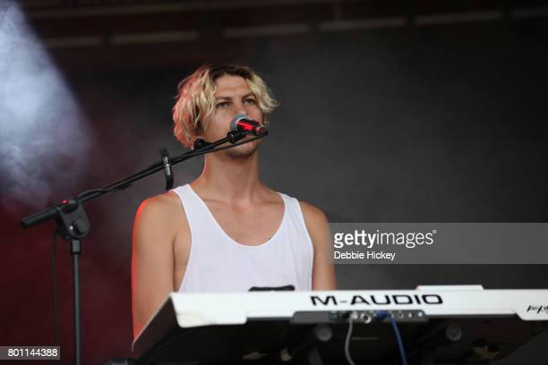 Ryan Wonsiak of Canadian band Austra performs at Body Soul Festival at Ballinlough Castle on June 25 2017 in Co Westmeath Ireland