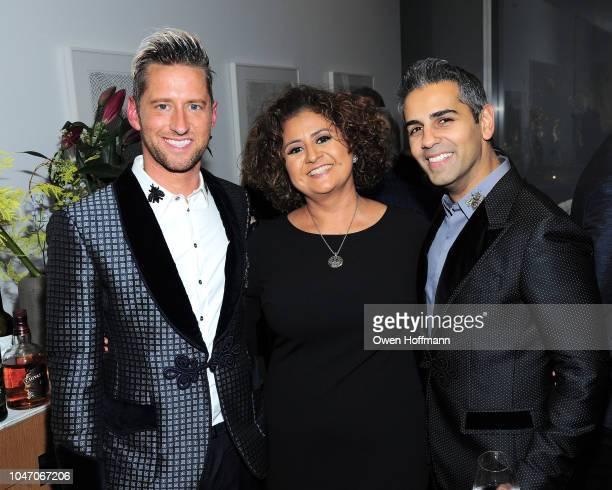 Ryan Yapp Dora Abril and Sanjay Hathiramani attends Birthday Of Romero Britto Madeleine Arison Howard Buffett And Dr Lucas Vidal at The Modern on...