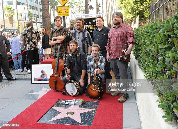 Ryan Young Erik Berry Dave Carroll Tim Saxhaug and Dave Simonett of Trampled By Turtles attend the ceremony posthumously honoring John Denver with...
