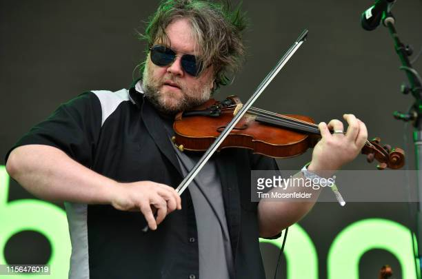 Ryan Young of Trampled by Turtles performs during the 2019 Bonnaroo Music Arts Festival on June 16 2019 in Manchester Tennessee