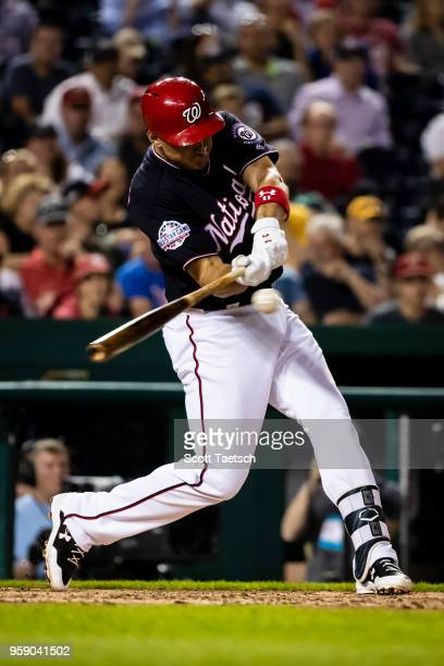Ryan Zimmerman of the Washington Nationals at bat during the sixth inning against the Pittsburgh Pirates at Nationals Park on May 1 2018 in...