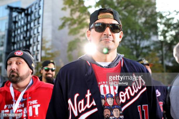 Ryan Zimmerman of the Washington Nationals looks on during the 2019 World Series victory parade on Saturday November 2 2019 in Washington DC