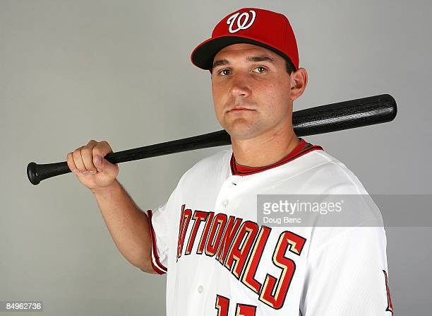 Ryan Zimmerman of the Washington Nationals poses during photo day at Roger Dean Stadium on February 21 2009 in Viera Florida