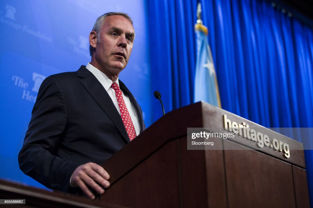 U.S. Secretary Of The Interior Ryan Zinke Delivers Policy Address At The Heritage Foundation