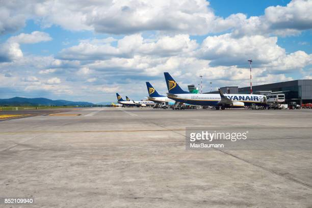 Ryanairs flygplan på Bergamo flygplats