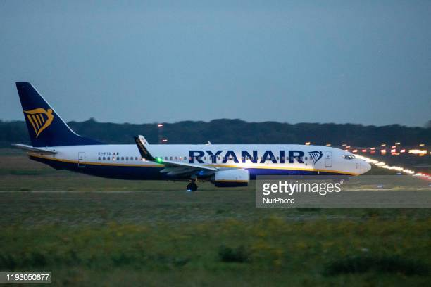 Ryanair Boeing 737800 airplane with registration EIFTD as seen taxiing in Eindhoven EIN EHEH airport for takeoff Ryanair FR is an Irish low cost...