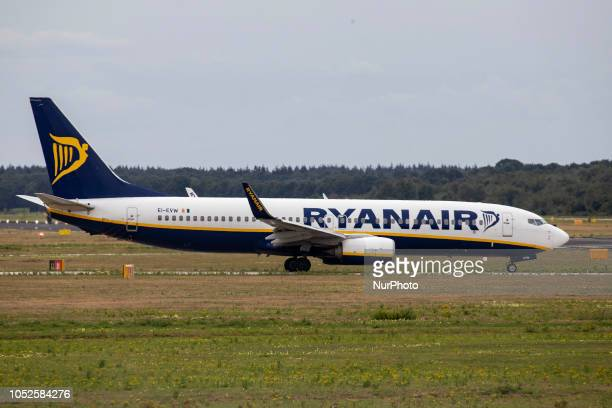 Ryanair Boeing 737800 seen in Eindoven airport in The Netherlands taxiing In October 2018 Ryanair announced it would be closing its base at the...