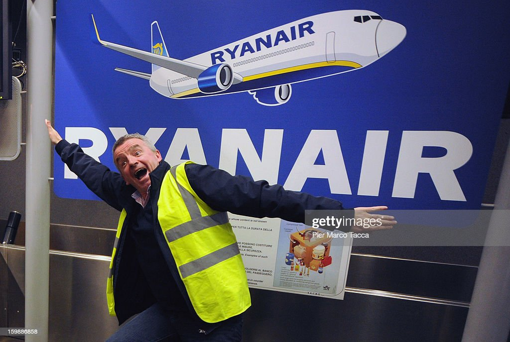 Ryanair CEO Michael O'Leary Holds Press Conference In Bergamo Airport