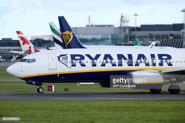 A Ryanair plane takes off from Dublin Airport on September 21 2017 Ryanair chief executive Michael O'Leary on September 21 said he could not rule out...