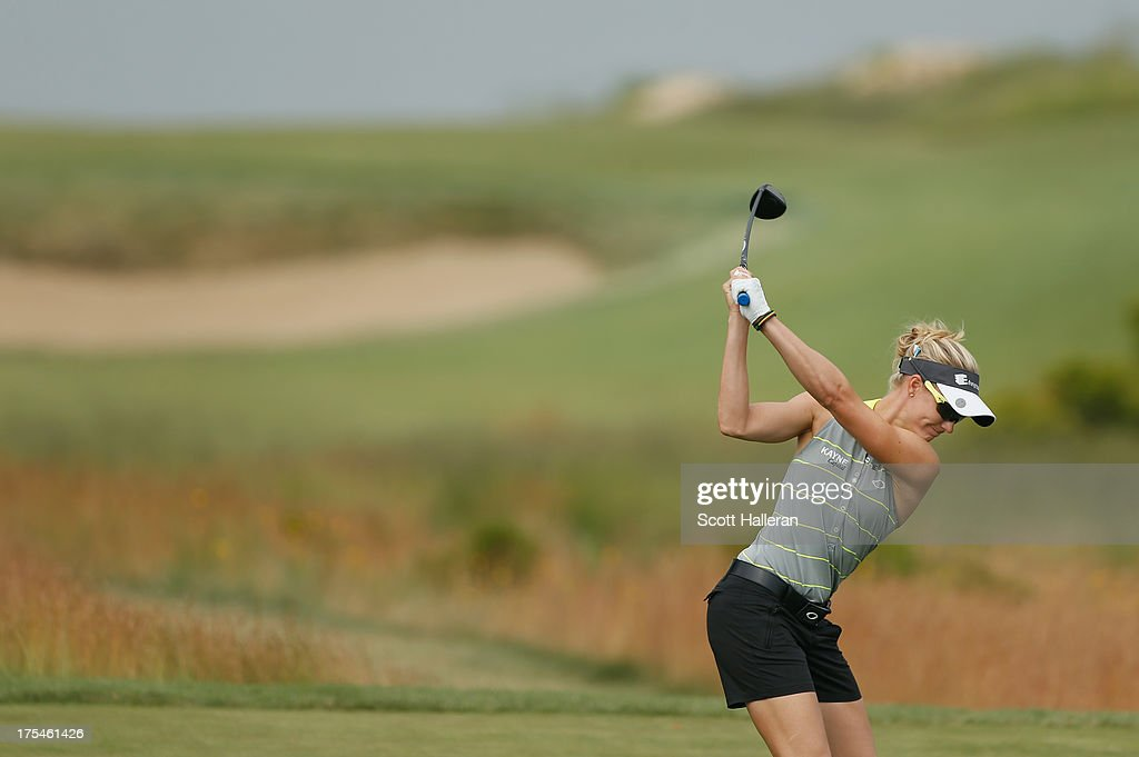 Ryann O'Toole hits a shot during the first round of the 2013 U.S. Women's Open at Sebonack Golf Club on June 27, 2013 in Southampton, New York.